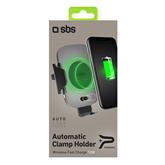 Автомобильный держатель для телефона с поддержкой Qi, SBS