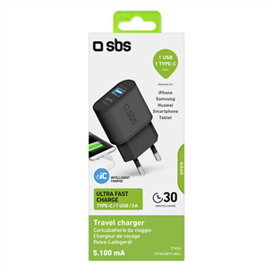 Wall charger USB-C SBS (15 W)