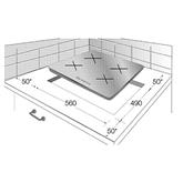 Integreeritav keraamiline pliidiplaat Beko