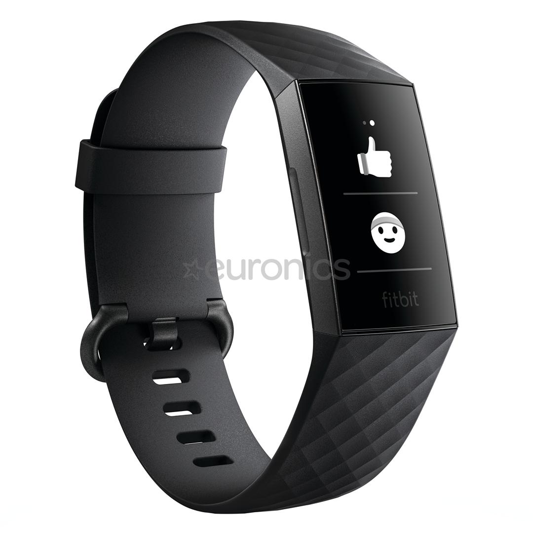 62b79b0cfef Aktiivsusmonitor Fitbit Charge 3, FB409GMBK-EU
