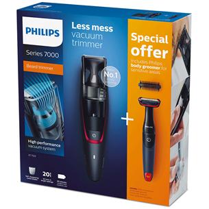 Vaakumiga habemepiirel + kehapiirel Philips series 7000