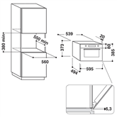 Интегрируемая микроволновая печь Whirlpool (31 л)