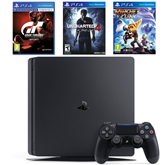 Mängukonsool Sony PlayStation 4 (500 GB) + 3 mängu