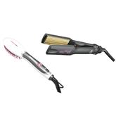 Щипцы-гофре + расческа для выпрямления волос Innova Mini, GA.MA