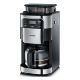 Coffee maker with grinder, Severin