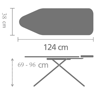 Triikimislaud Brabantia 124 x 38 cm