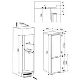 Интегрируемый холодильник Whirlpool (193,5 см)
