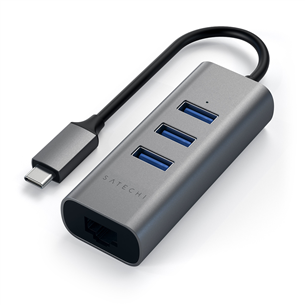 Хаб USB-C + Gigabit Ethernet, Satechi