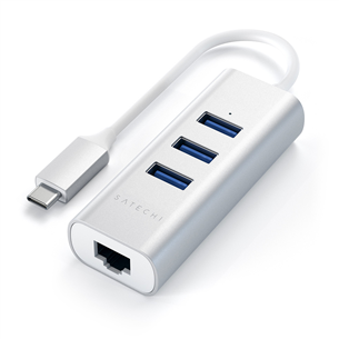 USB-C jagaja + Gigabit Ethernet Satechi