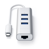 USB-C jagaja + Gigabit Ethernet Satechi