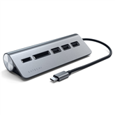 USB-C hub + memory card reader Satechi
