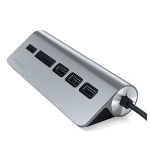 USB-C jagaja + mälukaardilugeja Satechi