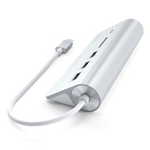 USB-C hub + memory card reader Satechi