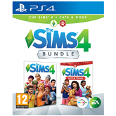 PS4 game The Sims 4 + Cats and Dogs Bundle