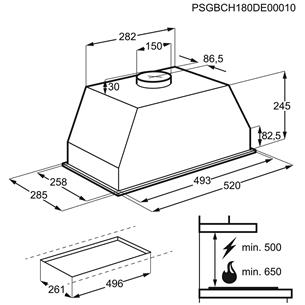 Integreeritav õhupuhasti AEG (440 m³/h)
