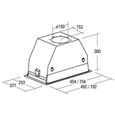Built-in cooker hood, Cata / 820 m³/h