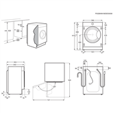Integreeritav pesumasin-kuivati Electrolux (8 kg / 4 kg)