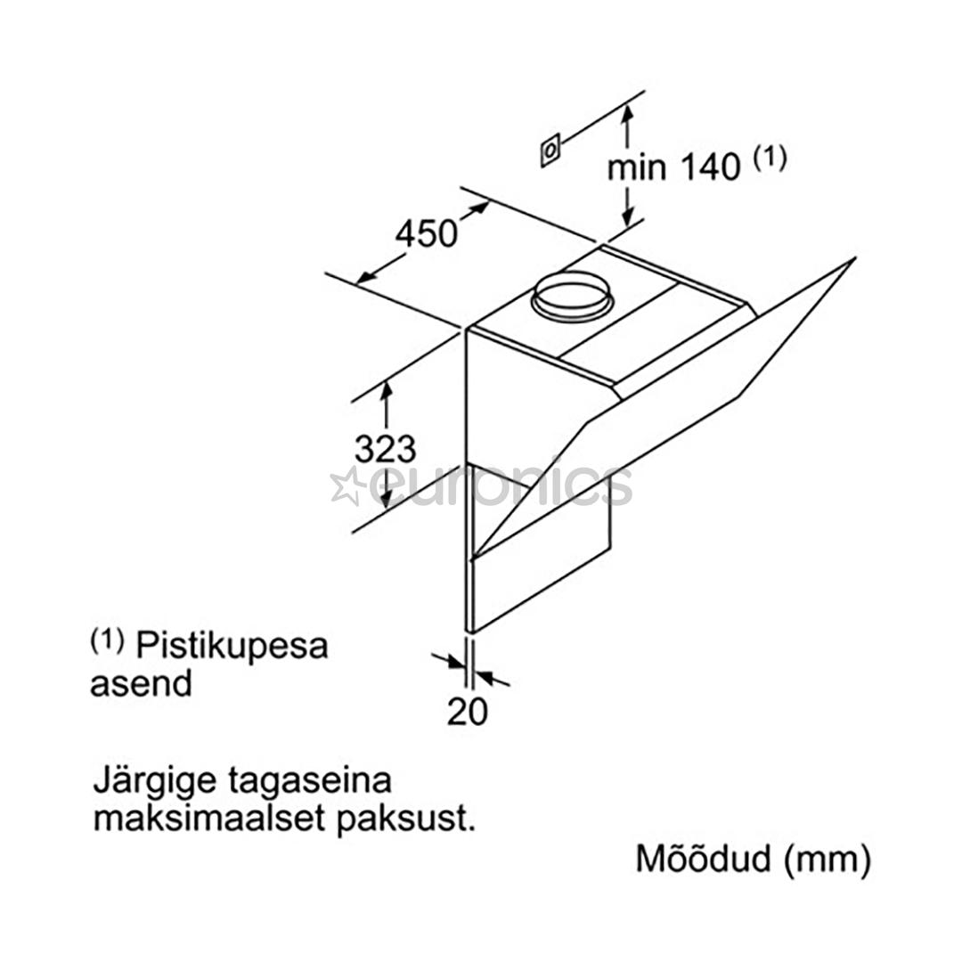 Вытяжка Bosch (730 м³/ч)