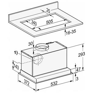 Cooker hood Miele (600 m³/h)