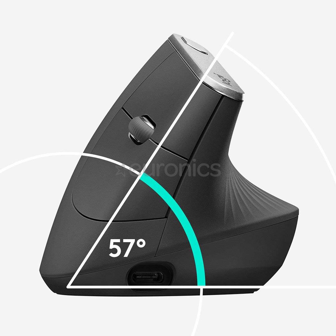 Juhtmevaba hiir Logitech MX Vertical Advanced Ergonomic