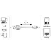 Juhe Micro USB Hama (0,6 m)
