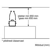 Built-in cooker hood Bosch (618 m³/h)