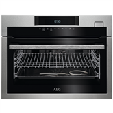 Built-in compact steam oven AEG
