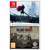 Switch games Child Of Light + Valiant Hearts