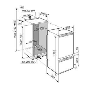 Built - in refrigerator Liebherr (178 cm)