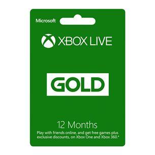 Ajakaart Xbox Live GOLD (12 kuud)