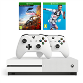 Gaming console Microsoft Xbox One S (1TB) + 2 controllers and 2 games