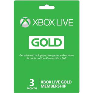 Ajakaart Xbox Live GOLD (3 kuud)