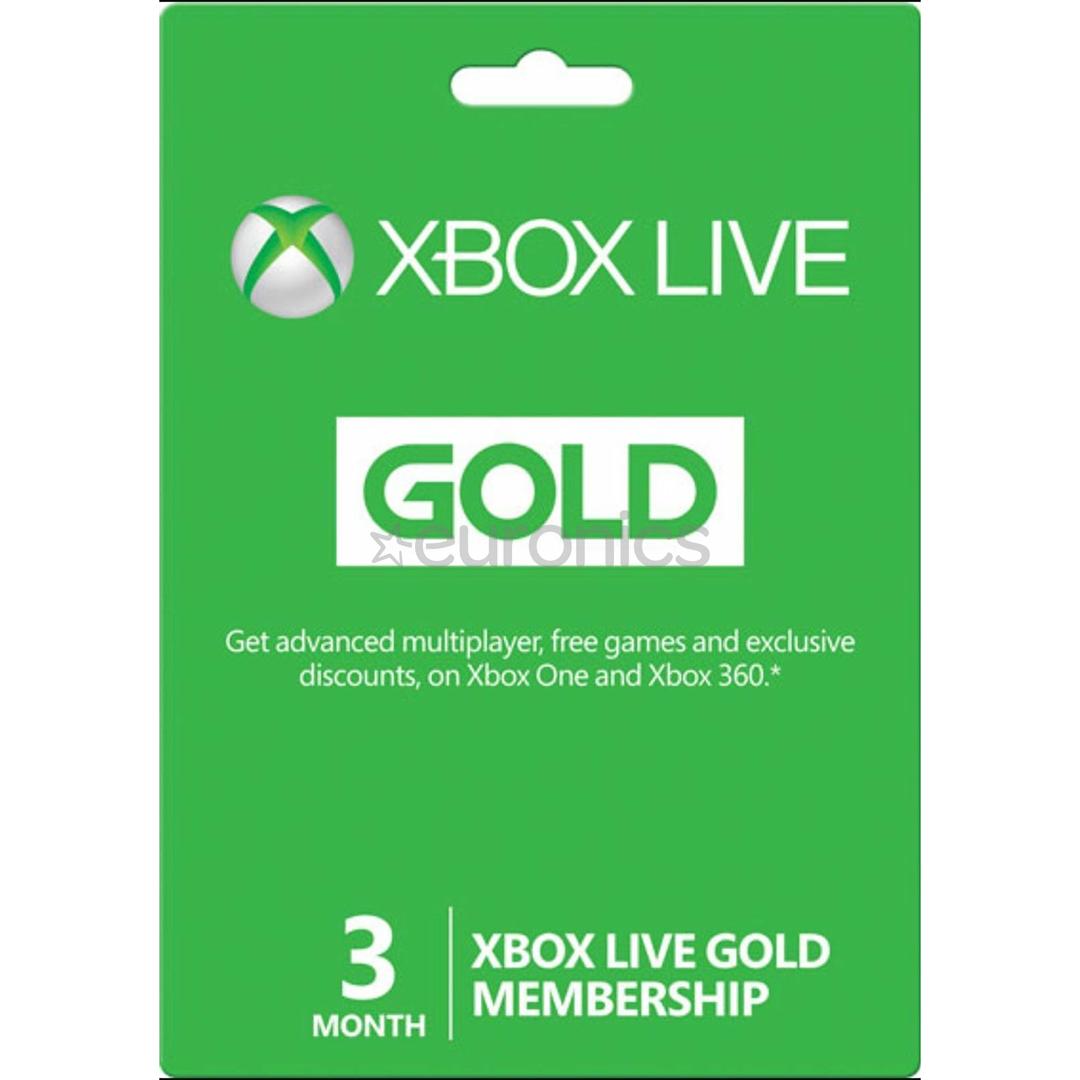 Xbox Live Gold Membership (3 Months)