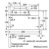Integreeritav õhupuhasti Bosch (420 m³/h)