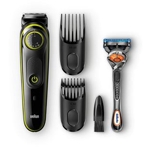 Habeme- ja juuksepiirel Braun BT3041 + Gillette Fusion raseerija