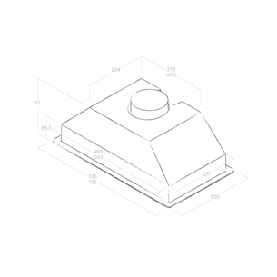 Built-in cooker hood Elica (365 m³/h)