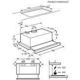 Built-in cooker hood Electrolux (370 m³/h)