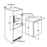 Integreeritav külmik Electrolux (88 cm)
