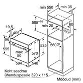 Integreeritav ahi + teleskoopsiinid Bosch