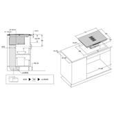 Integreeritav induktsioonpliidiplaat õhupuhastiga Cata