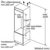 Integreeritav jahekapp Bosch (140 cm)