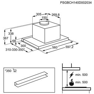Интегрируемая вытяжка AEG (603 м³/ч)