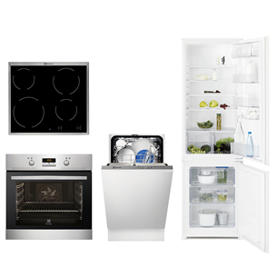 Built-in set Electrolux (oven, hob, refrigerator and dishwasher)