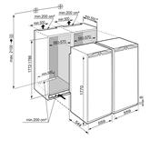 Integreeritav SBS komplekt Liebherr (120 cm)