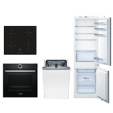 Built-in set Bosch (oven, hob, refrigerator and dishwasher)