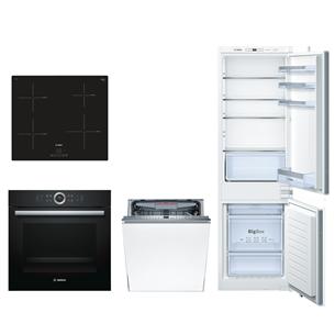 Built-in set Bosch (oven, hob, refrigerator and dishwasher)