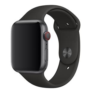 Vahetusrihm Apple Watch Black Sport Band - Regular 44mm
