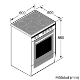 Keraamiline pliit Bosch (60 cm)