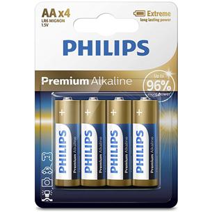 4 x Patarei Philips LR6M AA 4 Premium Alkaline LR6M4B/10