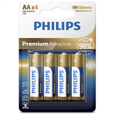Battery Philips LR6M AA 4 Premium Alkaline (4 pc)